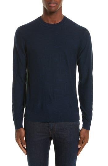 Ps Paul Smith Side Stripe Merino Wool Sweater, Blue