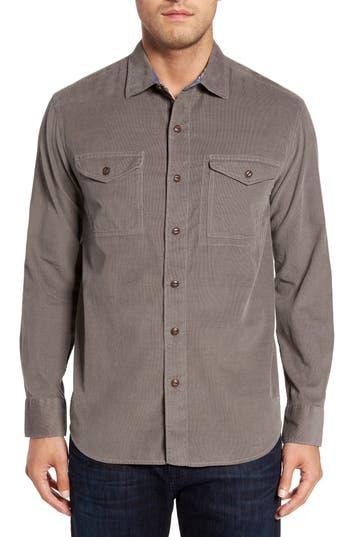 Tommy Bahama Harrison Cord Standard Fit Shirt, Grey