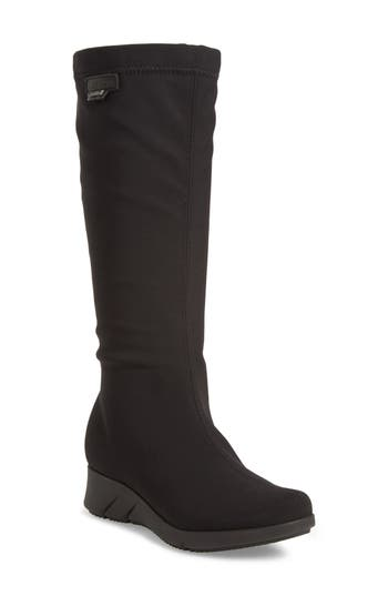 Mephisto Minda Waterproof Wedge Boot, Black