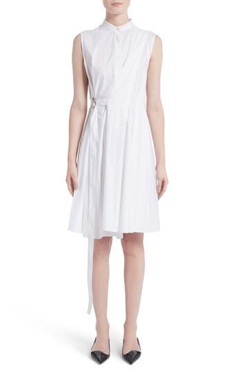 Proenza Schouler Cotton Poplin Wrap Dress, White