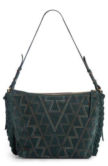 Isabel Marant Osun Stitched Suede Shoulder Bag - Green at NORDSTROM.com