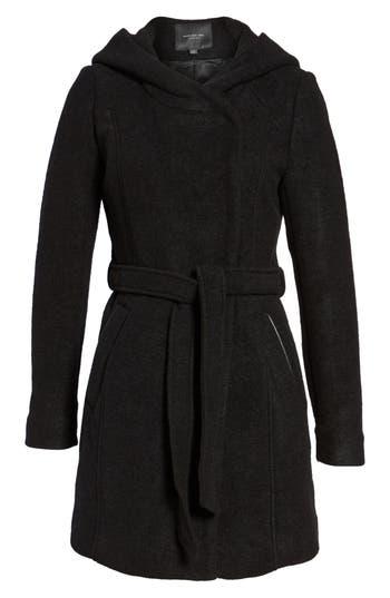 Women's Andrew Marc Felted Wool Blend Coat