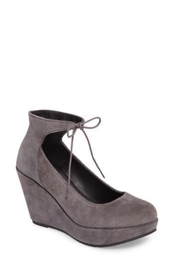 Cordani Remo Ankle Tie Platform Wedge - Grey