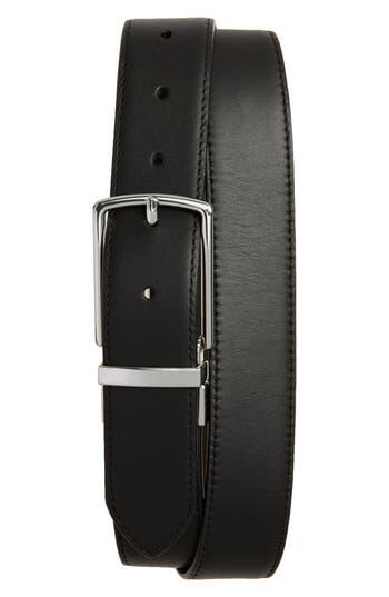 Big & Tall Nordstrom Shop Preston Reversible Leather Belt, Black/ Brown