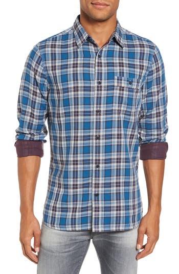 Nordstrom Shop Workwear Duofold Plaid Sport Shirt, Blue/green
