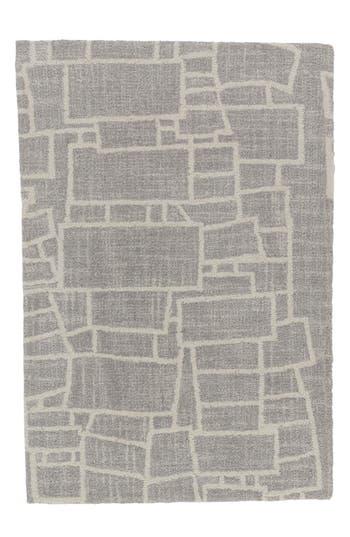 Dash & Albert Lloyd Micro Hooked Wool Rug, Size Swatch - Grey