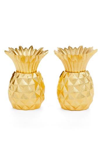 Nordstrom At Home Pineapple Salt & Pepper Shaker Set, Size One Size - Metallic