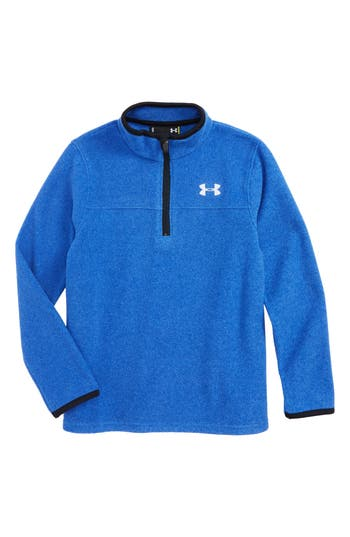 Toddler Boys Under Armour Logo Quarter Zip Pullover Size 2T  Blue