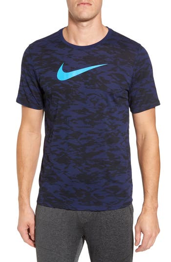 Nike Basketball Attack Logo T-Shirt, Blue