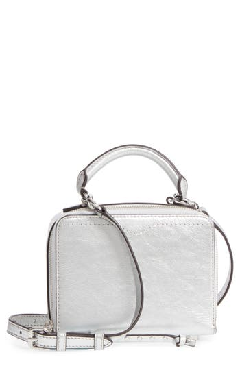 Rebecca Minkoff Box Metallic Leather Crossbody Bag - Metallic