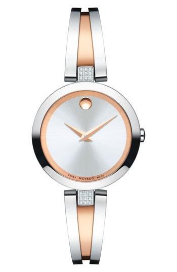 Women's Movado Aleena Diamond Bangle Watch, 27Mm