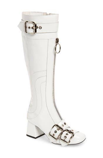 Jeffrey Campbell Peggy Boot- White