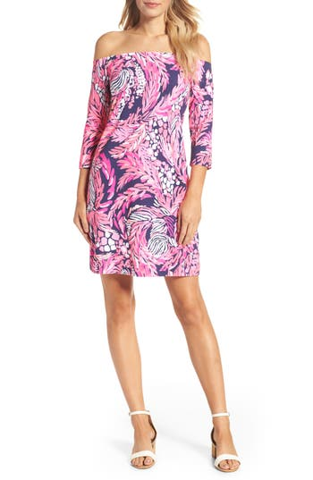 Lilly Pulitzer Laurana Off The Shoulder Sheath Dress, Pink