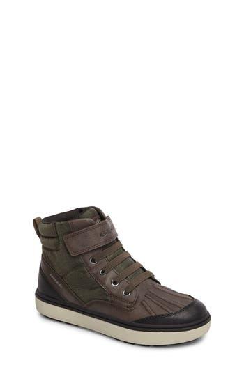 Boys Geox Mattias  Abx Amphibiox Waterproof Sneaker Size 3.5US  35EU  Green