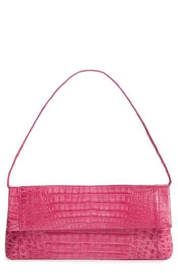 Nancy Gonzalez Gotham Genuine Crocodile Clutch - Pink