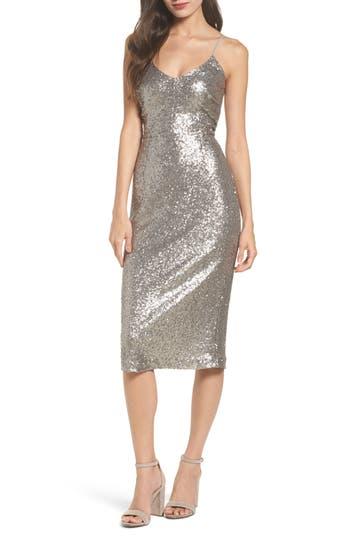 Cooper St Midnight Lucky Sequin Dress, Metallic