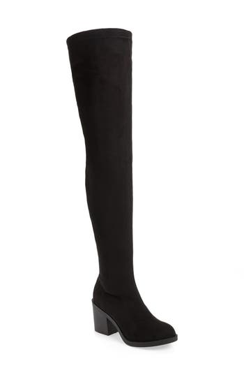 Topshop Casper Thigh High Boot - Black