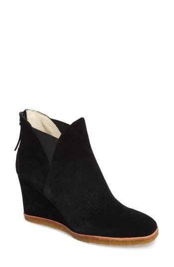 Bettye By Bettye Muller Whiz Wedge Bootie, Black