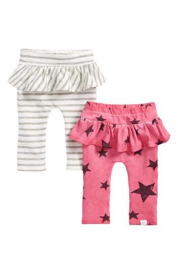 Infant Girl's Rosie Pope 2-Pack Ruffle Leggings, Size 0-3M - White
