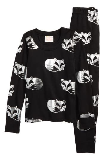 Girls Masalababy Sleeping Foxes Fitted TwoPiece Pajamas