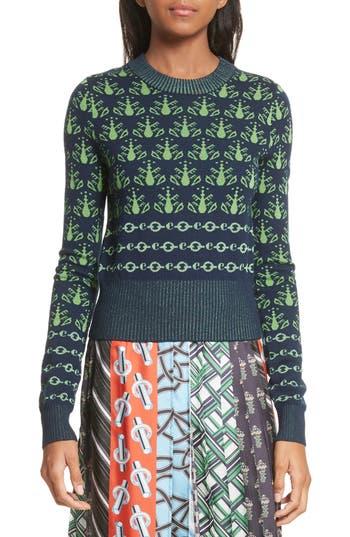 Carven Merino Wool Sweater, Green