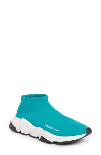 Balenciaga Low Speed Sneaker, Blue/green