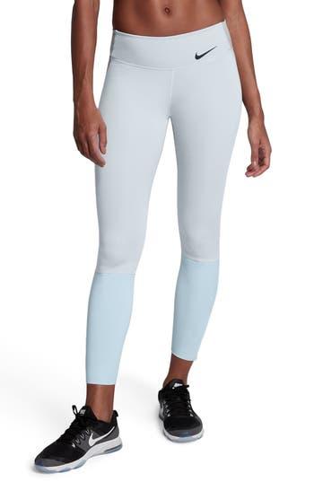 Nike Legendary Mid Rise Zip Cuff Training Tights, Grey