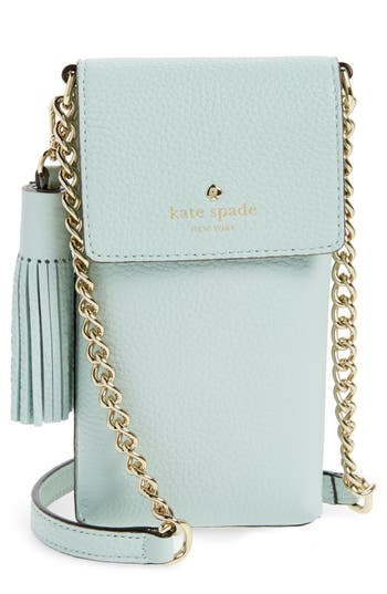 Kate Spade New York North/south Leather Smartphone Crossbody Bag - Blue at NORDSTROM.com