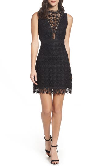 Sam Edelman Star Lace Sheath Dress, Black