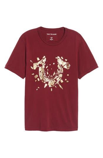 True Religion Brand Jeans Metallic Logo T-Shirt, Red