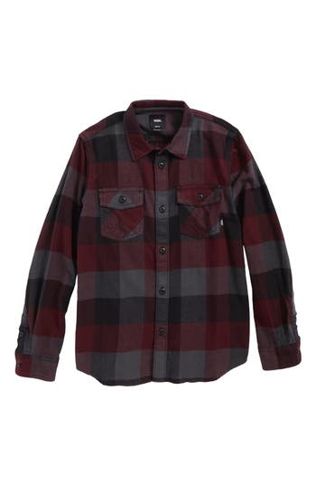 Boys Vans Box Plaid Flannel Shirt