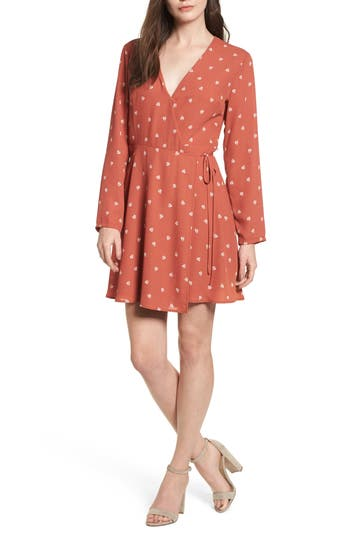 Women's Elly Wrap Dress, Size X-Small - Coral