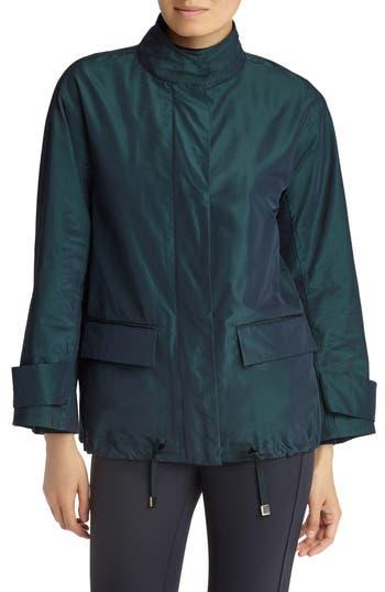 Lafayette 148 New York Markus Empirical Tech Cloth Jacket, Blue/green