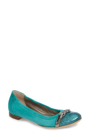 Agl Cap Toe Ballet Flat, Blue/green