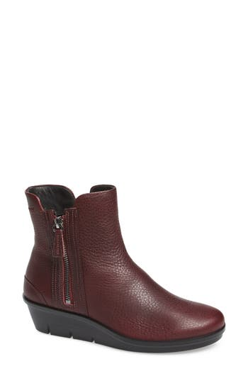 Ecco Skyler Notched Wedge Bootie, Burgundy