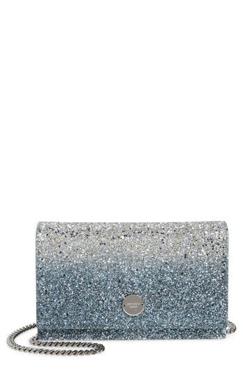 Jimmy Choo Florence Glitter Crossbody Bag - Metallic