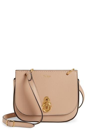 fed1cb16a9 MULBERRY Mini Amberley Calfskin Leather Crossbody Bag - Beige