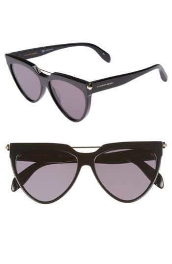 Alexander Mcqueen 5m Cat Eye Sunglasses - Black
