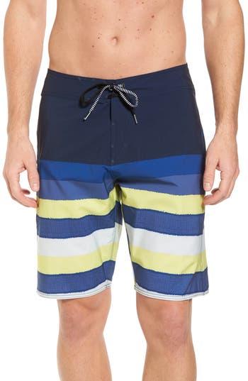 Volcom Lido Liney Mod Board Shorts, Green