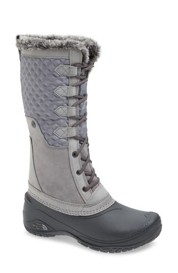 The North Face Shellista Iii Tall Waterproof Insulated Winter Boot, Grey