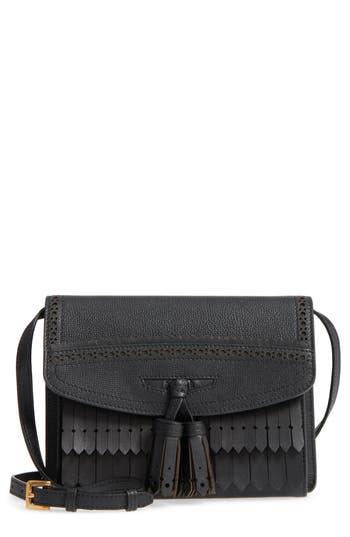 Burberry Macken Fringe Leather Crossbody Bag - Black