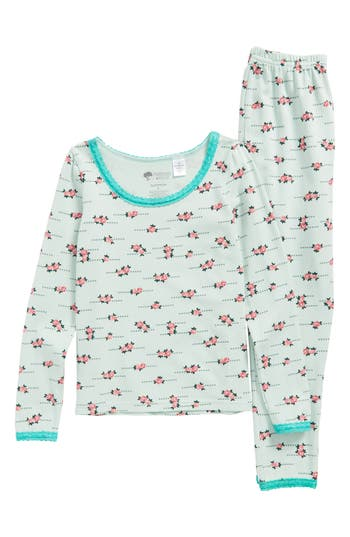 Girls Tucker  Tate Lace Trim Fitted TwoPiece Pajamas