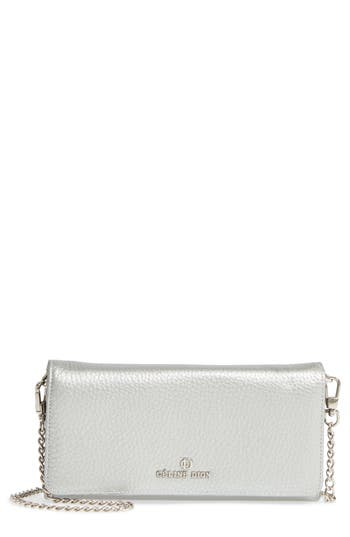Women's Celine Dion Adagio Leather Crossbody Wallet - Metallic