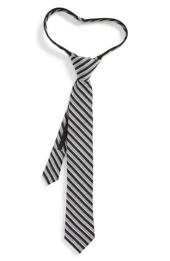 Boys Nordstrom Stripe Silk Zip Tie