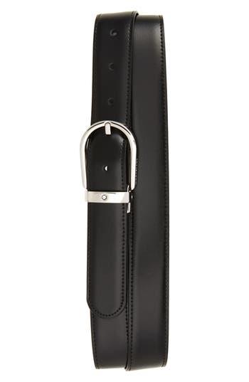 Montblanc Horseshoe Buckle Reversible Leather Belt
