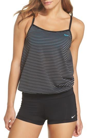 Nike Layered Sport Tankini Top, Black