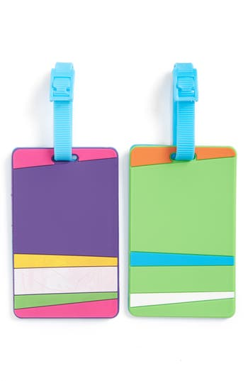 Flight 001 Essentials Set Of 2 Rubber Luggage Tags - Green