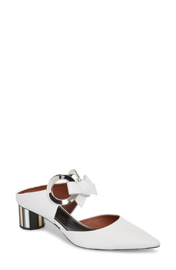 Proenza Schouler Ring Tie Pointy Toe Pump, White