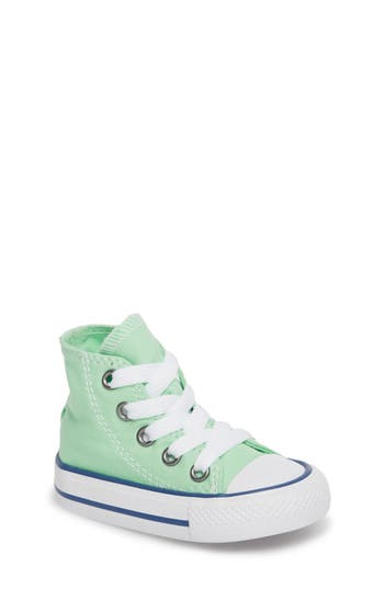 Infant Boys Converse Chuck Taylor All Star Seasonal High Top Sneaker Size 2 M  Green