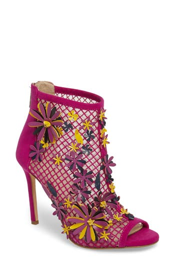 Jessica Simpson Jayko Flower Mesh Bootie, Purple